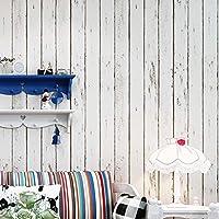"Wood Contact Paper, H2MTOOL Peelable Self Stick Wallpaper (17.7"" x 78.7"", White)"