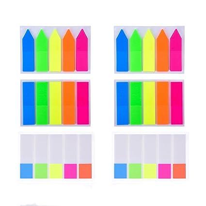 amazon com avonours 600 pcs page markers colorful neon page tabs