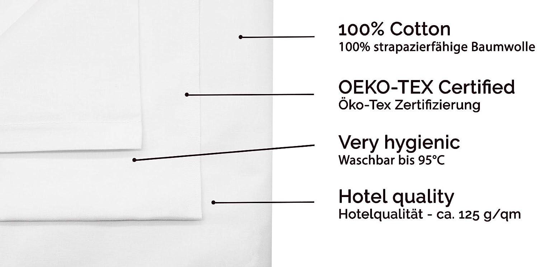 Bianco ZOLLNER Lenzuolo Superiore copriletto 150x260 cm Altre Misure