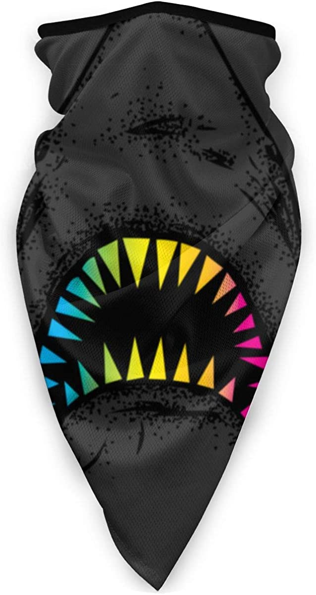 Rainbow Shark Tooth Art Windproof Sports Mask Mouth Face Mask Outdoor Magic Scarf Bandana Balaclava for Adult Kids