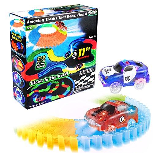 Kinderrennbahnen Infinitoo Autorennbahn Mit 2 Beleuchtete Rennwagen Products Hot Sale Spielzeug