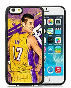 New Custom Design Cover Case For iPhone 6 4.7 Inch LA Lakers Jeremy Lin 1 Black Phone Case