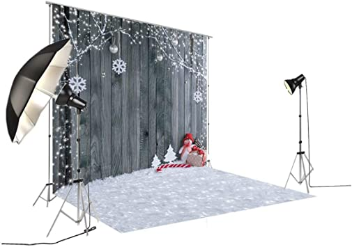 7/×5ft Photo Backdrop Cloth Christmas Ball Pine Flower Vinyl Photography Backdrops Background Photo Booth Party Wall Background Portrait Photo Background for Photo Photo Background Wall Backdrop