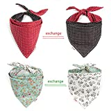 Pet Heroic 2Pcs-4Styles Pet Dog Cat Bandana Triangle Bibs Scarf Pet Dog Cat Kerchief Neckerchief Set Accessories Suitable for Small&Medium&Large Pet Dog Cat