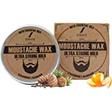 Spruce Shave Club Beard & Moustache Wax For Strong Hold (50g) (Cedarwood & Mandarin)