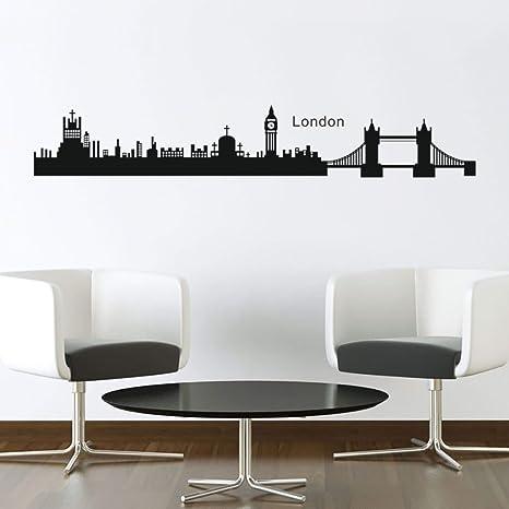 decalmile Big Ben Di Londra Tower Bridge Adesivi Murali Removibile ...