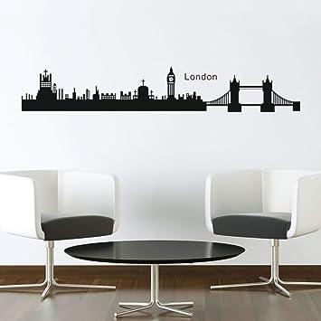 DecalMile Londra Skyline ponte di torre Big Ben Adesivi Da Parete ...