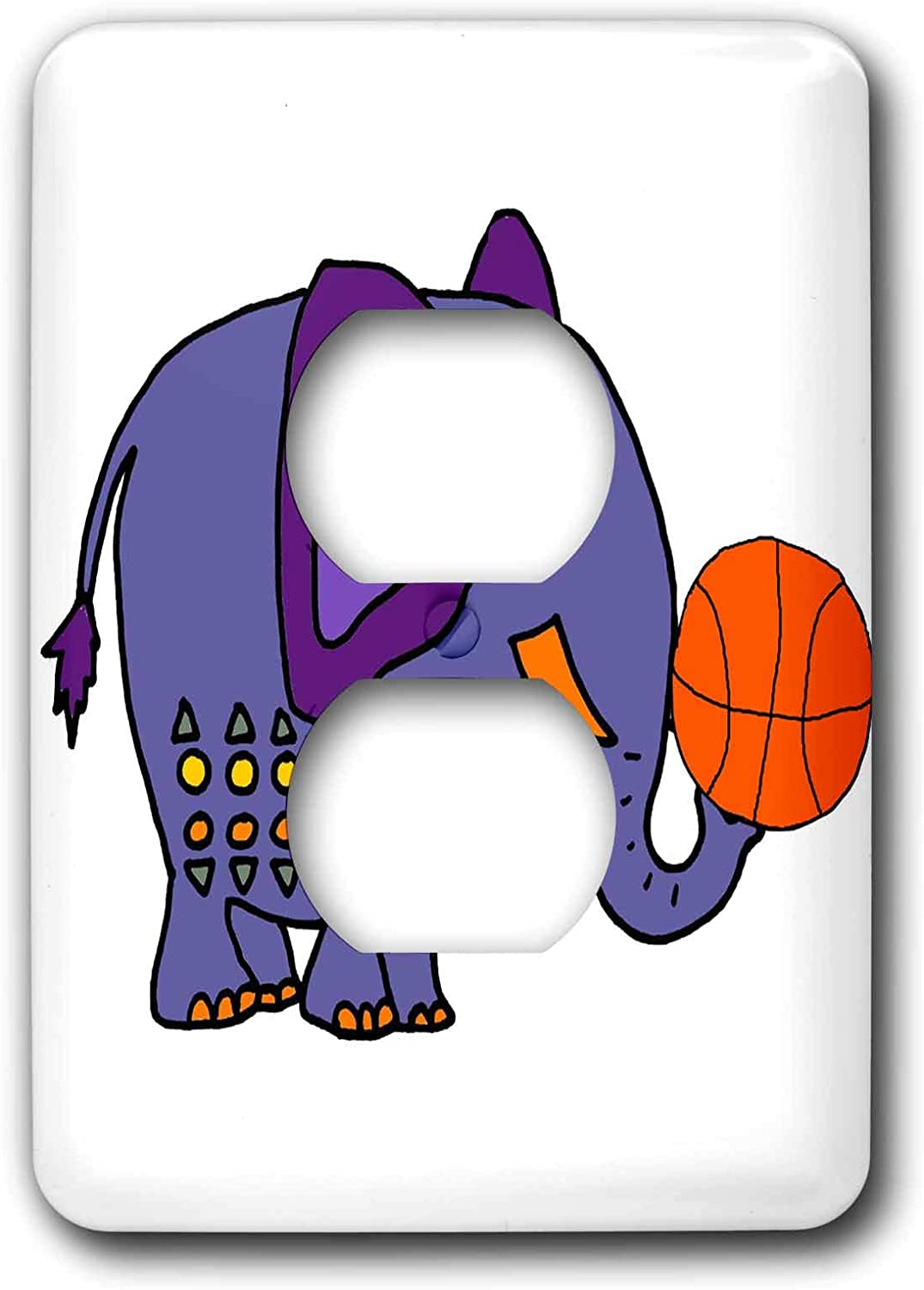 3drose All Smiles Art Sports And Hobbies Cool Funny Blue Elephant Playing Basketball Cartoon 2 Plug Outlet Cover Lsp 298939 6 Amazon Com