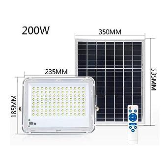 Solar Foco Proyector LED con mando a distancia, IP66 a prueba ...