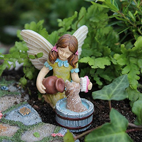 Miniature Fairy Garden Katie W/ Scruffy