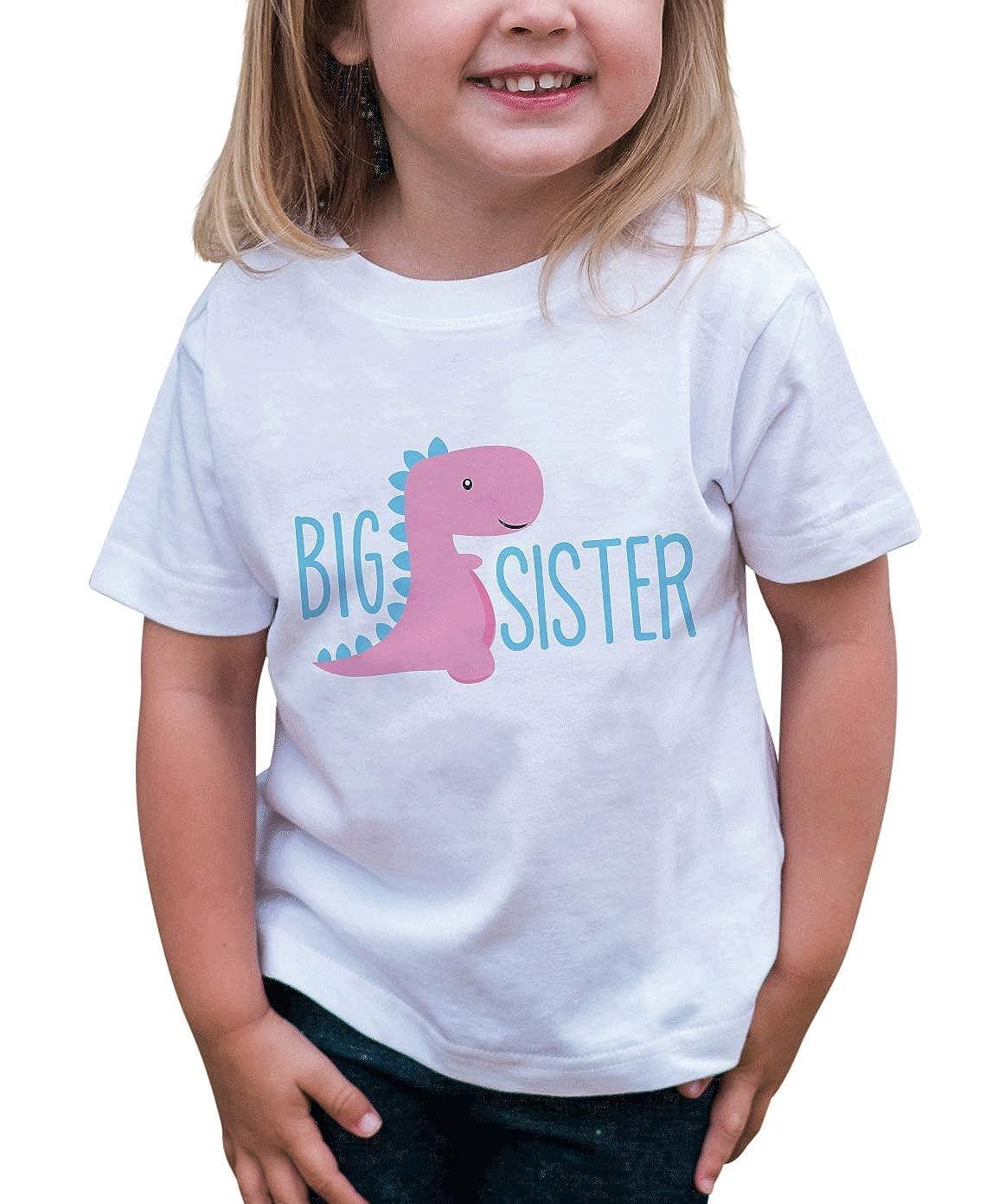 7 ate 9 Apparel Girls Dinosaur Big Sister T-Shirt