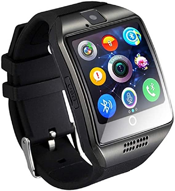 Stepfly Bluetooth Smart Watch with Camera Sim Card Message Notifications of Whatsapp Facebook Twitter Two Battery Smartwatch for IOS and Android Mobile Phone