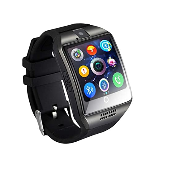 Stepfly Bluetooth Smart Watch with Camera Sim Card Message Notifications of Whatsapp Facebook Twitter Two Battery Smartwatch for IOS and Android ...