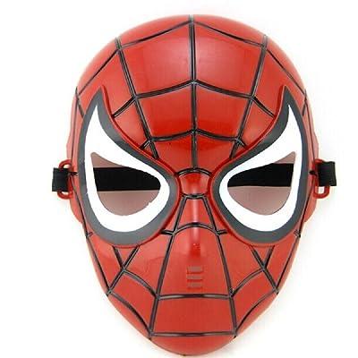 Inception Pro Infinite 5 - 8 años - Máscara de Disfraces - Disfraz - Carnaval - Halloween - Spiderman - Superhéroe - Hombre araña - Rojo - Niño: Juguetes y juegos