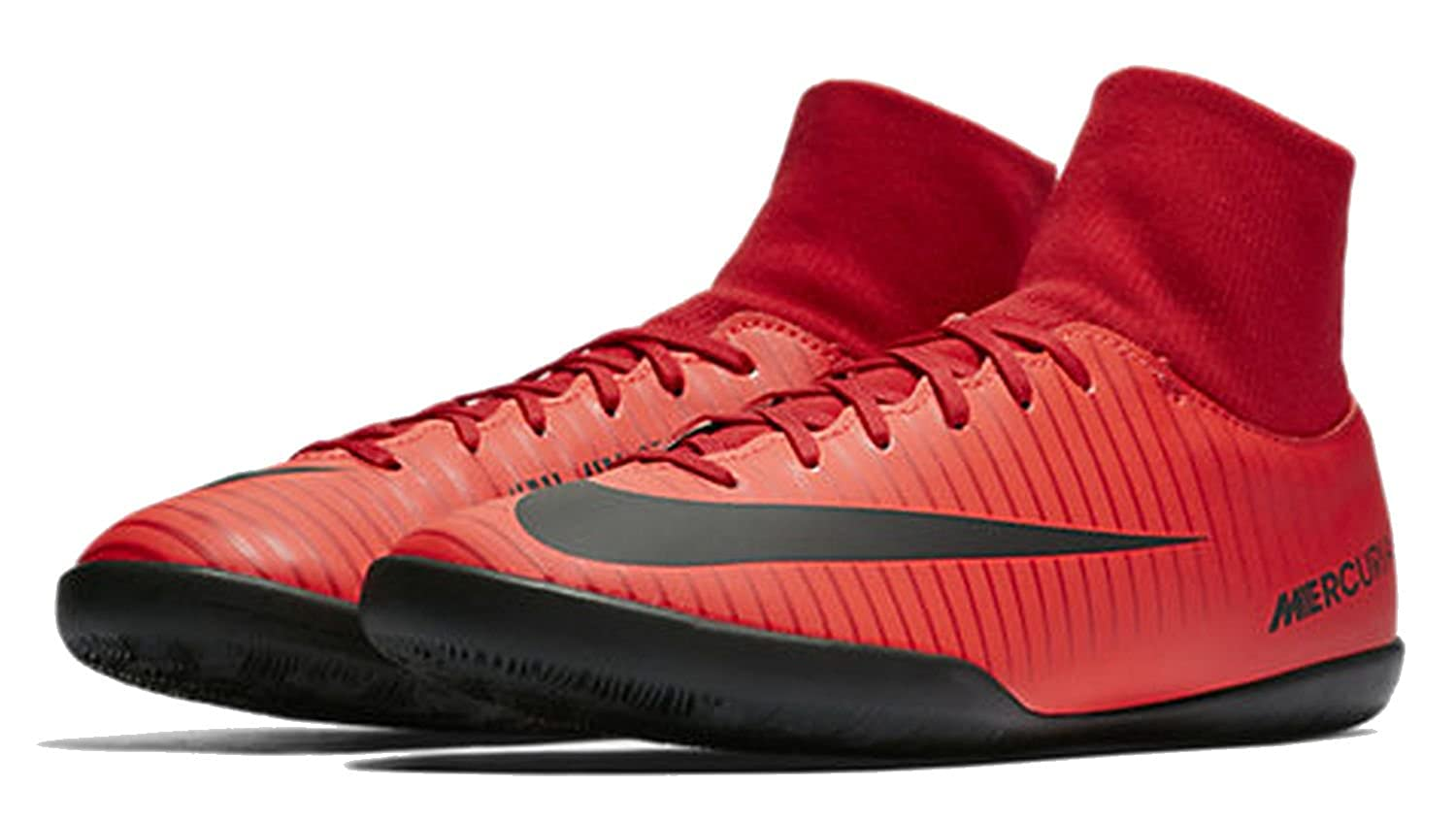 M US, University Red//Black 10 D Nike Mens Mercurial Victory VI Dyanamic Fit IC Indoor Soccer Shoes
