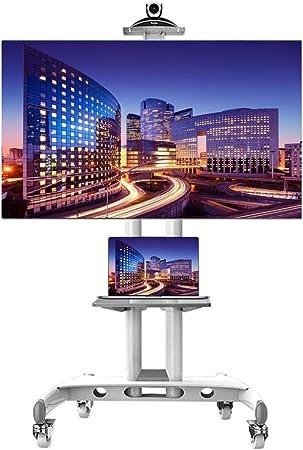 ZAQI - Soporte para TV con Ruedas giratorias y Estante AV para la mayoría de televisores de Pantalla Plana Curvada de 32/37/42/47/50/55/60/65 Pulgadas, Altura Ajustable: Amazon.es: Hogar