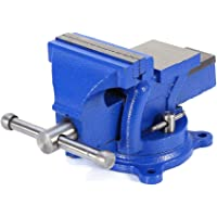 Bench Vise, 4inch Multi-Purpose Work Bench Vice Table Top Clamp Engineers Locking Swivel Base Table Top Clamp Press Jaw…