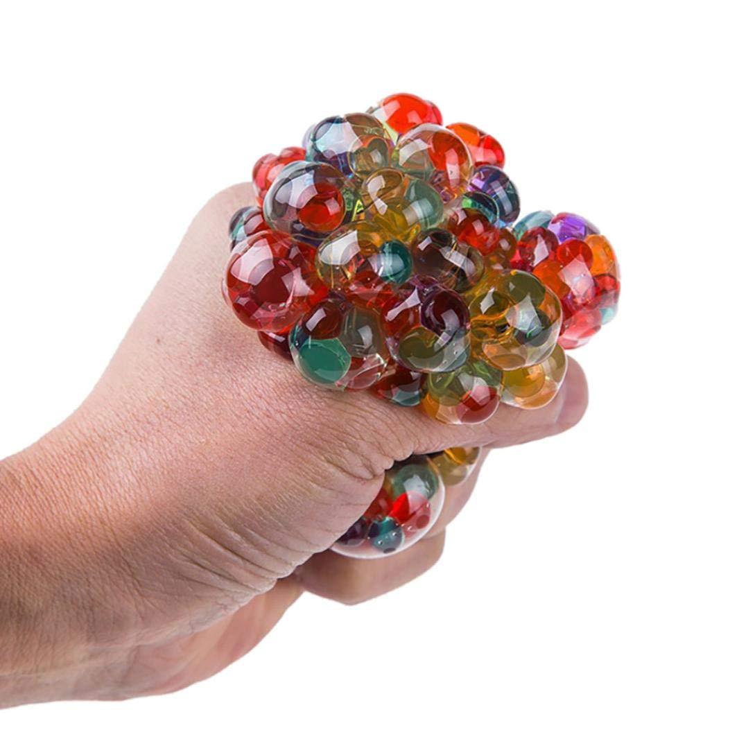 Kangrunmys Squishy Pas Cher Kawaii Boule de Bille Stress LED rougeoyante Squeeze Raisin Jouets anxiété soulagement Stress Ball