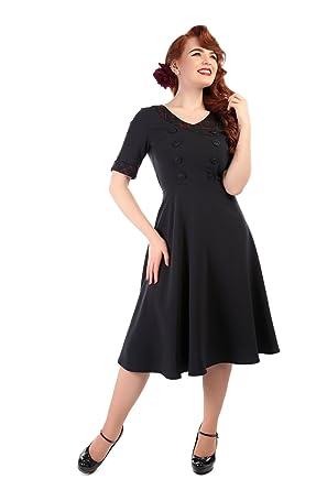 Collectif Vintage Womens 1950s Yvonne Hanna Check Tartan Dress UK 8