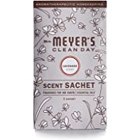 Mrs. Meyer's Clean Day Air Freshening Scent Satchets, Fragrance for lockers, cars, closets, Lavender Scent, 3 ct