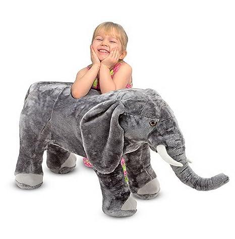 Woodega – Melissa & Doug de Gran Elefante Elephant Peluche Oversize Deko, 43 x 94