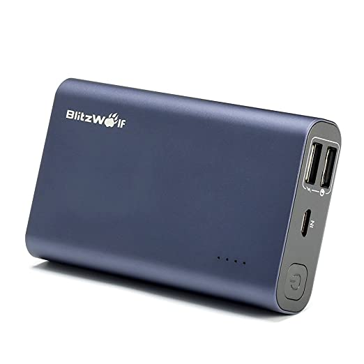 75 opinioni per Quick Charge 3.0 Caricabatterie Portatile, BlitzWolf 10000mAh Dual USB Compact