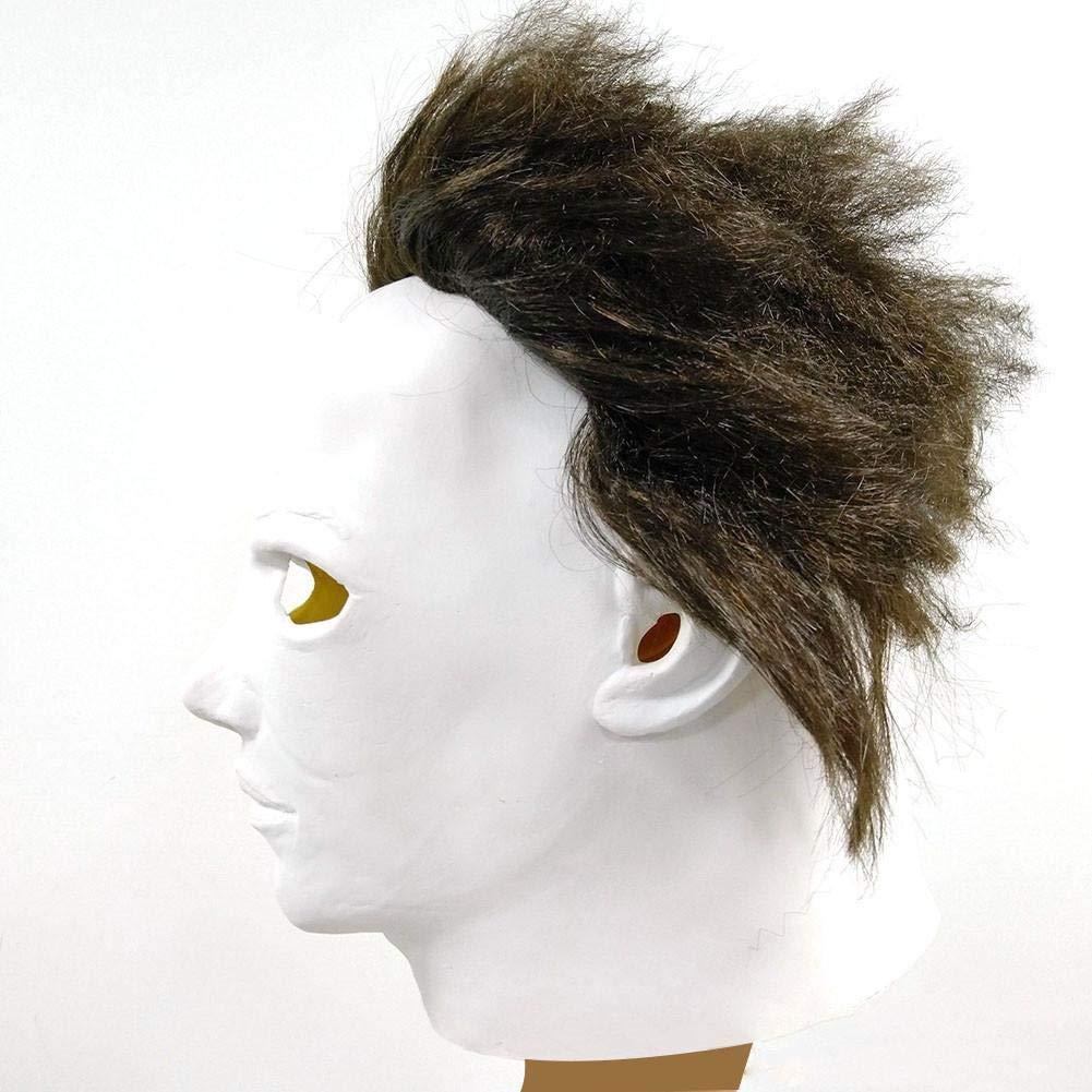 Kost/üm f/ür Erwachsene Michael Myers Maske Halloween Cosplay Horror Vollmaske Gruselfilm Charakter Erwachsene Cosplay Kost/üm Karneval /& Halloween