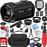 Panasonic HC-V770K HD Camcorder with Mini Zoom Microphone + 64GB SDXC Memory Card + Gadget Bag + Corel PaintShop Pro X9 + Microfiber Cloth + Memory Card Wallet + Card Reader + Tripod & More