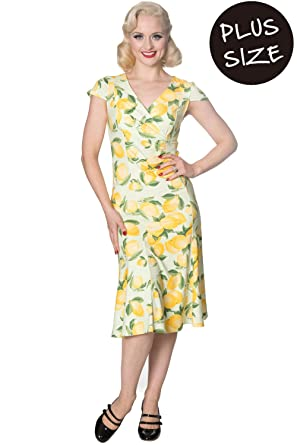 Banned Plus Size Lagoon Vintage Retro Dress - UK-18