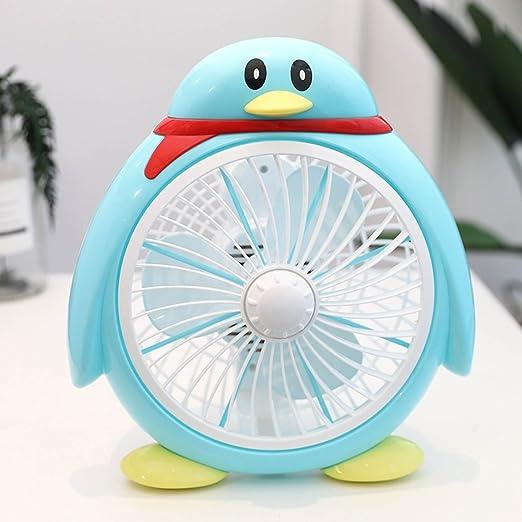 ventilador JCOCO 8 Pulgadas de Forma de pingüino Escritorio de Dibujos Animados/Mini Dormitorio de Estudiante Escritorio de Oficina/Ve: Amazon.es: Hogar