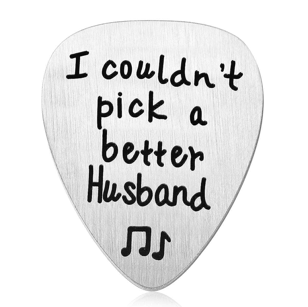 JZSTA ギター ピック 夫へのギフト 妻からの最高の夫へのギフト 音楽家夫へのユニークな誕生日   B07N779GDJ
