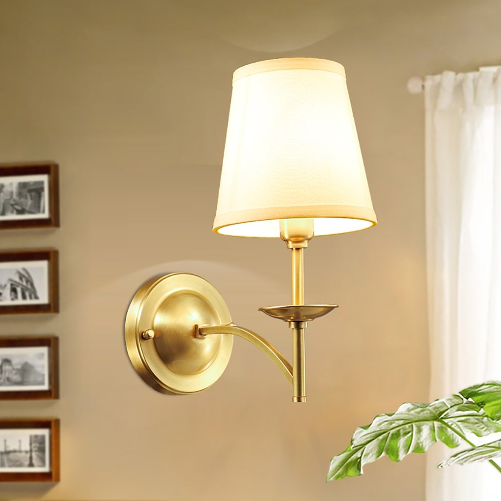 Retro Luxury Brass Wall Lamp Bedroom Bedside Lamp Mirror Front Lamp Wall Decoration Home Decoration Wall Lamp Hotel Wall Lamp by Crystal (Image #7)