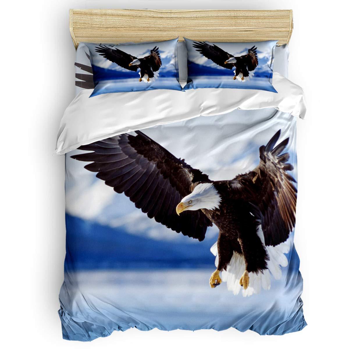 掛け布団カバー 4点セット シャーペイ ペットの犬 寝具カバーセット ベッド用 べッドシーツ 枕カバー 洋式 和式兼用 布団カバー 肌に優しい 羽毛布団セット 100%ポリエステル ダブル B07TGCKN4M Bird18LAS3165 ダブル