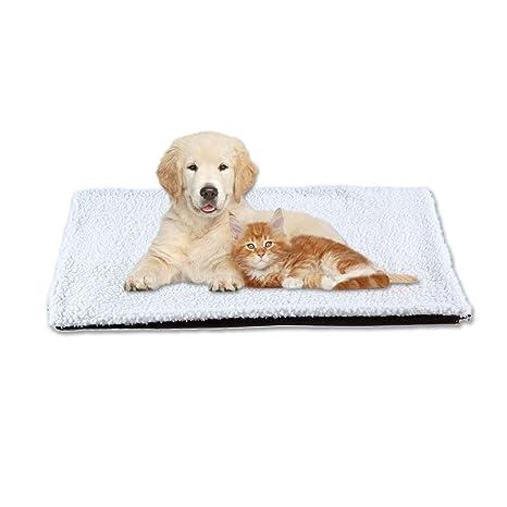 Womdee Manta térmica de Forro Polar para Gato o Gato, para Dormir, Lavable,