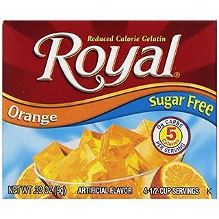 Royal Orange Gelatin Dessert Mix, Sugar Free and Carb Free (12 - .32oz Boxes)