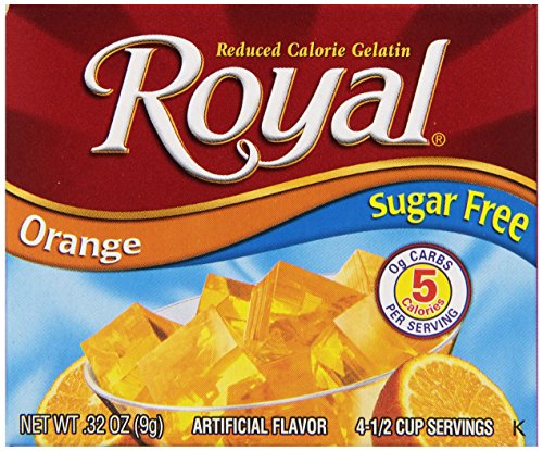 Royal Gelatin, Sugar Free, Orange, 0.32-Ounce (Pack of (Sugar Free Almond Syrup)