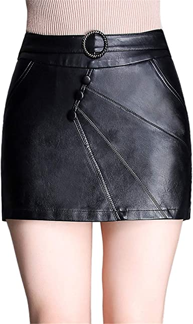 Skitor Chulas Cuero Skirt Mujer Sencillos Falda Business Sexy ...