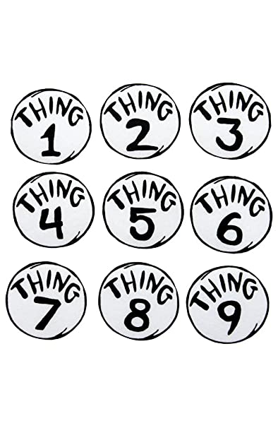 photo relating to Thing 1 and Thing 2 Logo Printable identified as elope Dr. Seuss Detail 1-9 Revealed Patches Preset