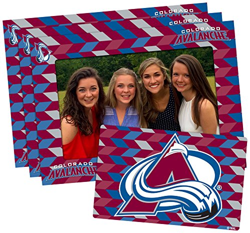 NHL Colorado Avalanche Magnetic Frame & Bonus Magnet, 3 Pack, Red, Blue, 4-inch by 6-inch