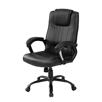 merax high back new office pu leather ergonomic office chair computer chair adjustable boss chair
