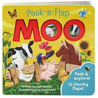 Book Cover: Moo: Peek-a-Flap Children's Board Book