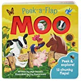 Moo: Peek-a-Flap Children's Board Book