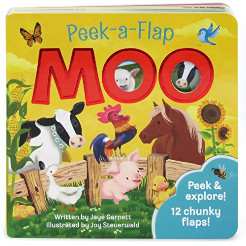 Moo: Peek-a-Flap Children's Board Book