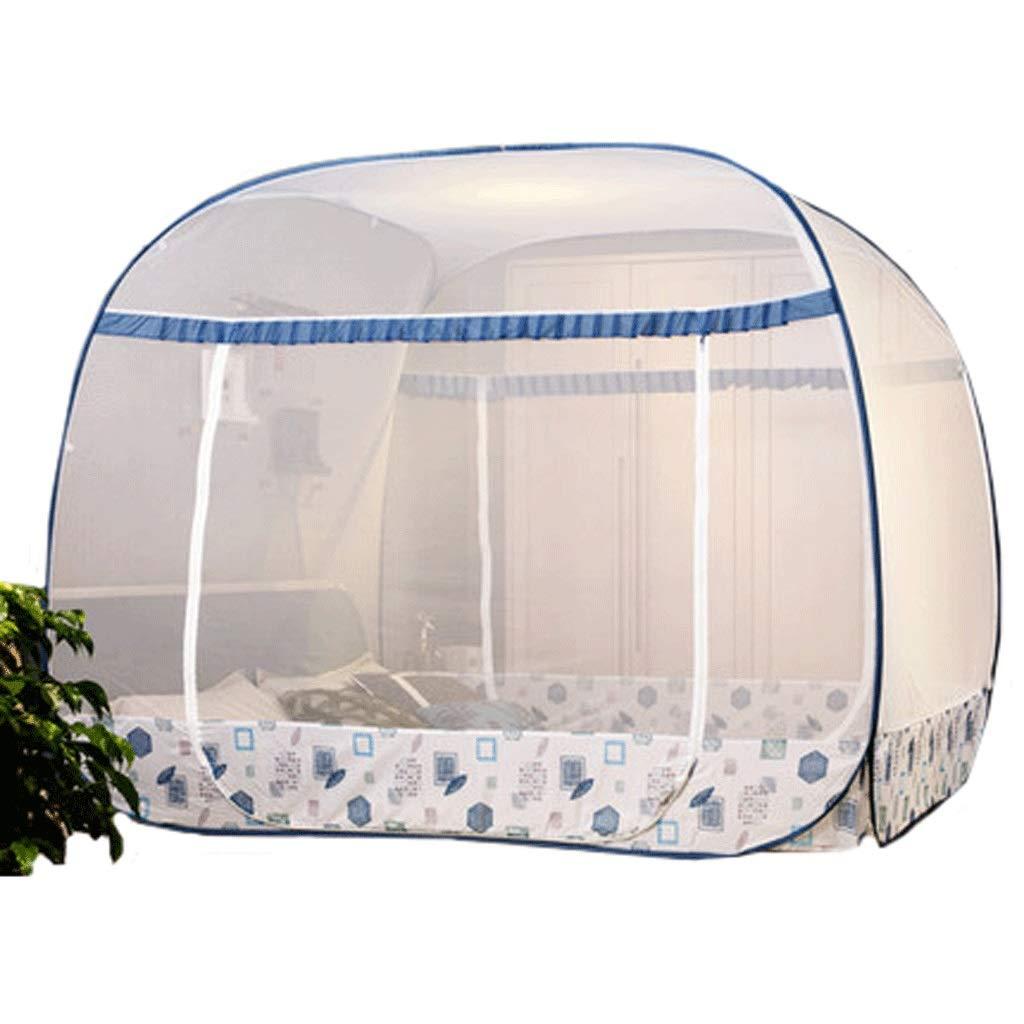 ダストトップ蚊帳ジッパードロップ子供1.5 / 1.8メートルベッド2メートル家庭用蚊帳暗号化肥厚王女の風 (色 : B, サイズ さいず : 2m bed) 2m bed B B07S8H14Y4