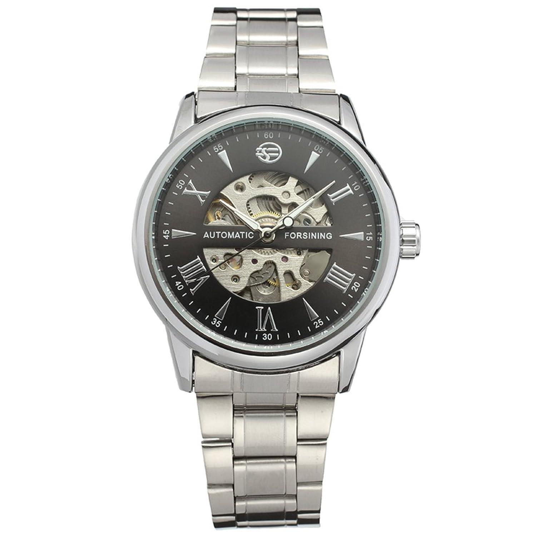 FORSININGゴールド男性トップ高級ブランド時計自動機械腕時計スケルトン腕時計 B071QXHWGT