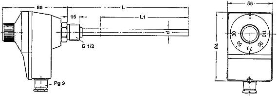 1//2 mit Tauchh/ülse Afriso Thermische Ablaufsicherung DN 15