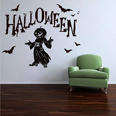 YuanMinglu Fiesta de Halloween Calabaza Murciélago Volando con ...