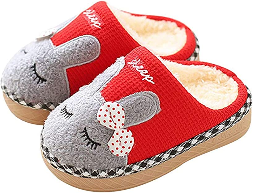 Maison Slippers Winter Faith Wings Chausson Chaud Enfant Pantoufles Bébé Garcon Chaussures Coton Fille tdsQrhC