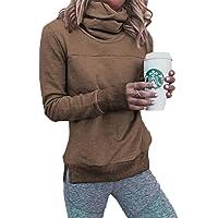 PRETTYGARDEN Women's Winter Long Sleeve Funnel Neck Fleece Lined Sweatshirt Pullover Outwear with Thumbholes