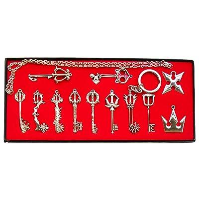 Accesorios de Cosplay de Juego Llavero Collar Colgante de Patron de Arma 12 piezas/13 Piezas Plata/Dorado: Ropa y accesorios